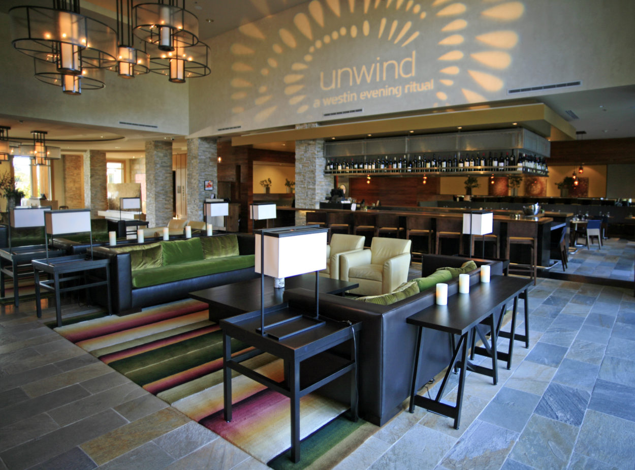Lobby and Bar inside of Napa's Westin Verasa