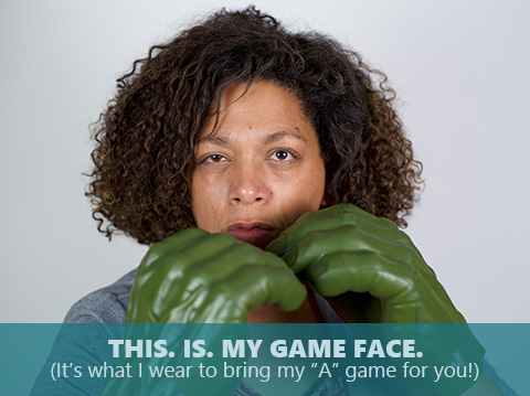 Karen Crilly is bringing her game face