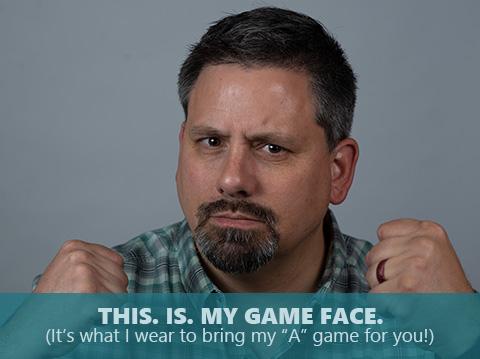 Duane Despain is bringing his game face