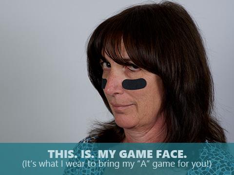 Debbie Eachus is bringing her game face