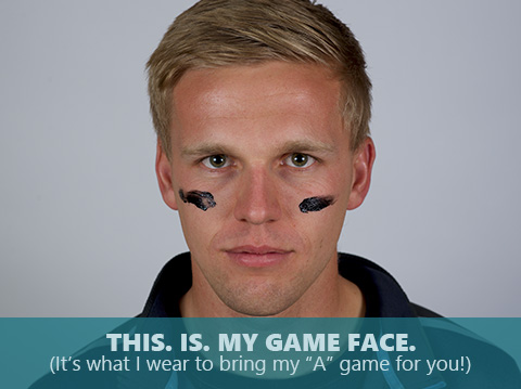 Dylan Friday is bringing his game face