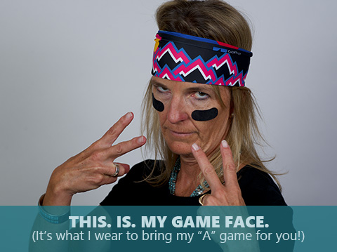Sam Gale is bringing her game face