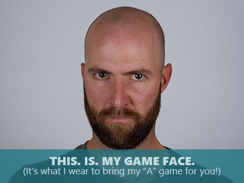 Tim McCabe is bringing his game face