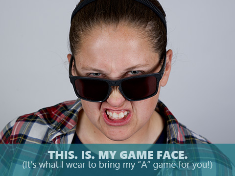Erin Pasold is bringing her game face