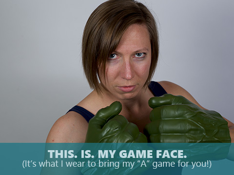 Emily Royal is bringing her game face