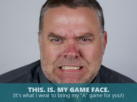 Morgan Royce is bringing his game face