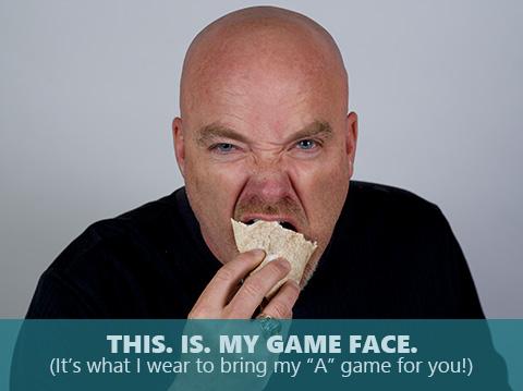 Brad Staver is bringing his game face