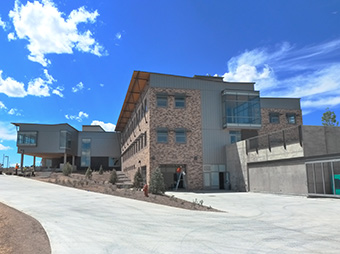 Final touches of on the Colorado Northwestern Community College's Craig campus academic center