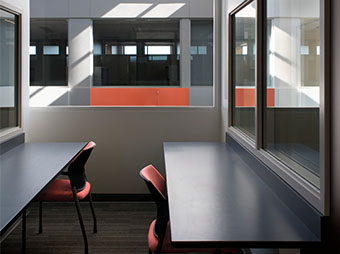 Study area on the 3rd floor of the Colorado State University Behavioral Science Building in Fort Collins
