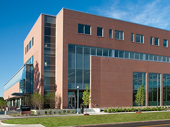 View of the outside of the University of Colorado Denver Health and Wellness center on the Anschutz campus