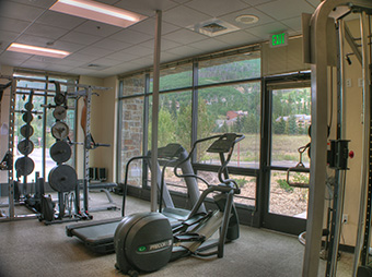 Gym and exercise room inside of the West Vail Fire Station #3