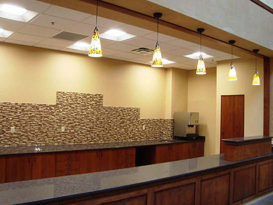 Front Desk at the Christus St. Vincent Hospital where BG provided MEP and commissioning services