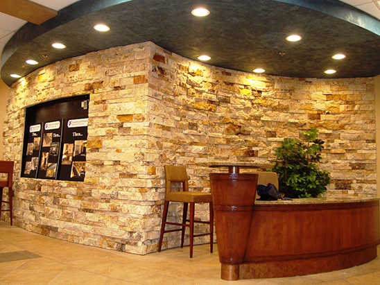 Lobby Reception area inside of the Christus St. Vincent Hospital where BG provided MEP and commissioning services