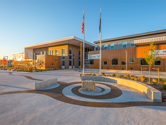 Exterior view of Denver Public School's Conservatory Green School where BG provided commissioning services