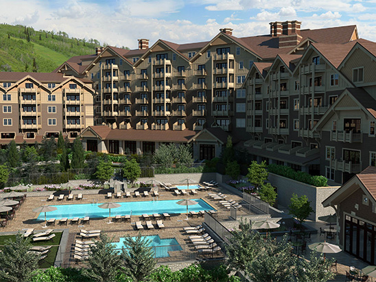 Exterior view of the Montage Hotel in Deer Valley where BG provided MEP and Lighting services