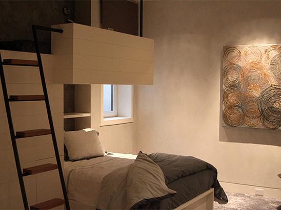 Bedroom inside of the Och residence where BG provided MEP services