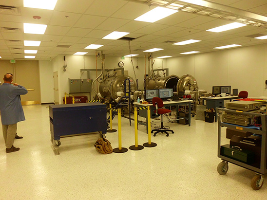 Interior lab at the SEAKR Engineering Center where BG provided MEP services