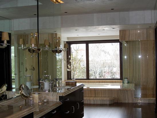 Bathroom inside of the Snadon Residence where BG provided MEP services