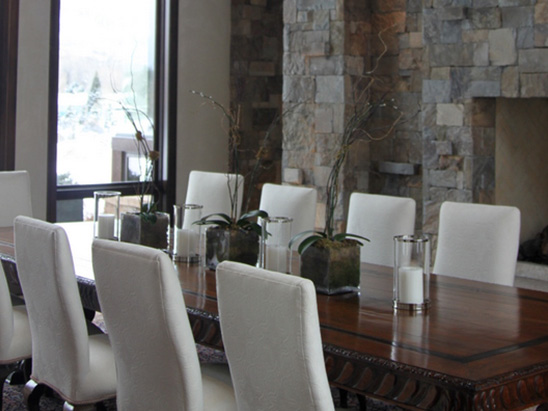 Dining Room at the Snadon Residence where BG provided MEP services