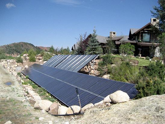 Solar Panels outside of the Snadon Residence where BG provided MEP services